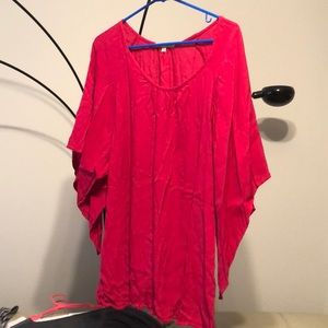 Hot Pink Gibson & Latimer Blouse